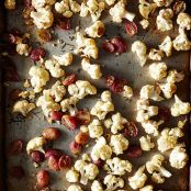 Roasted Cauliflower and Grapes