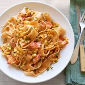 Pappardelle With Lobster and Corn