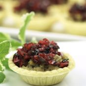 Chicken Tartlets with Cranberry Salsa