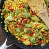Corn and Lima Bean Ragout