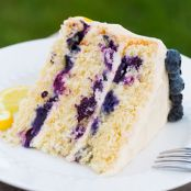 Lemon Blueberries & Cream Cake