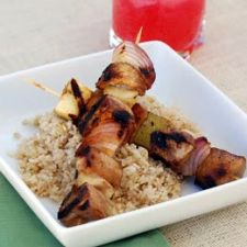 Balsamic Chicken and Apple Skewers