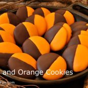 BLACK AND ORANGE COOKIES