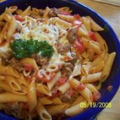 Penne with Spicy Vodka Tomato Sauce