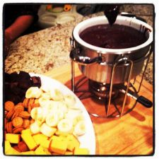 Holiday Fondue Recipes from The Melting Pot:  Bacon & Brie Cheese,  Flaming Turtle Chocolate and Bananas Foster