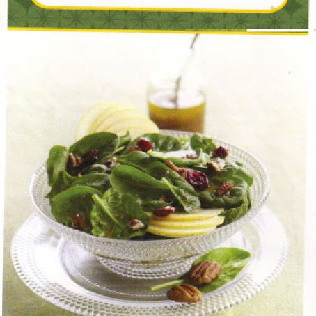 spinach ,pear and cranberry salad