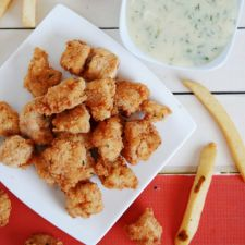 Popcorn Chicken & Honey Dill Sauce