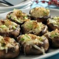 Mushrooms Stuffed with Crabmeat and Garlic Cream Cheese