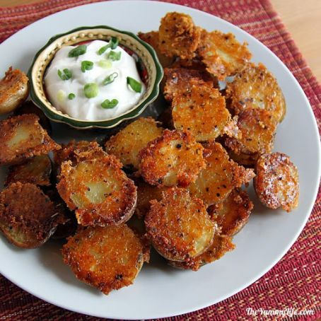 Parmesan Garlic Roasted Baby Potatoes Recipe 4 5