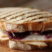 TURKEY & GOAT CHEESE PANINI WITH SALLIE'S BLUEBERRY LEMON + THYME JAM