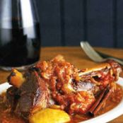Slow-Cooked Lamb Shanks in Pinot Noir