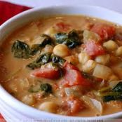African Chickpea and Spinach Soup