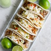 Pulled Pork with Sweet Chili Slaw Tacos