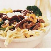 Beef Stroganoff with Broccoli