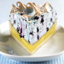 Wild Blueberry and Lemon Meringue Pie