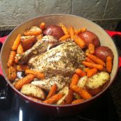 Roasted Whole Chicken and Vegetables - Dutch Oven