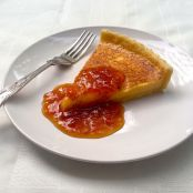 Custard Tart with Peach and Bourbon Jam