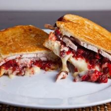 Grilled Turkey & Brie Sandwich with Cranberry Chutney
