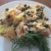 Smoked Salmon With Capers Breakfast Casserole Recipe