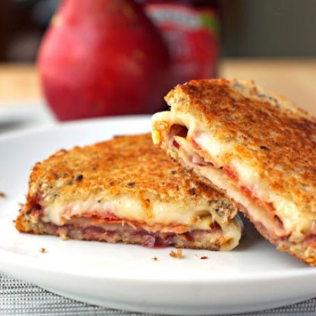 Bacon, Pear & Raspberry Grilled Cheese