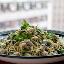 Healthy Pasta with Spicy Crab - Bobby Flay