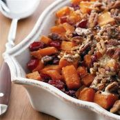 Holiday Roasted Sweet Potatoes with Cinnamon Pecan Crunc