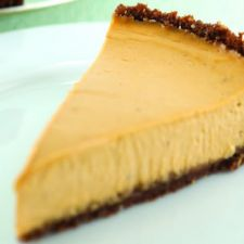 Vegan Pumpkin Cheesecake with a Gingersnap Crust