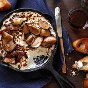 Broiled Ricotta Cheese With Brown-Butter Mushrooms