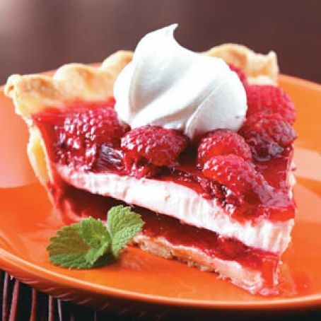Delicious Raspberry Ribbon Pie