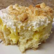 Double Banana Pudding Cake