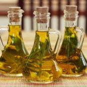 Basil-infused olive oil