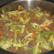 Wilted Cabbage with Ground Beef