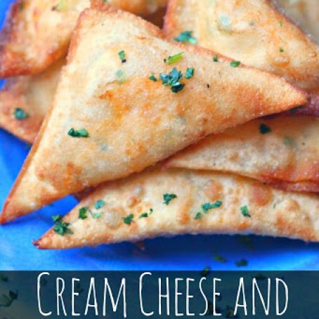 Cream Cheese & Avocado Fried Wontons