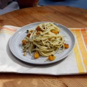 Spaghetti tossed with Butternut Squash and Sage Butter