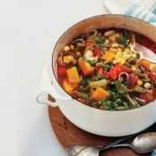 Minestrone with Butternut Squash and Fresh Corn