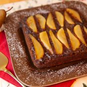 Pear and Beer Gingerbread Upside-Down Cake