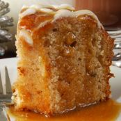 Apple Cake with Caramel Topping