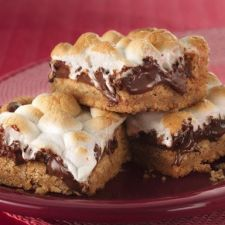 Warm Toasted Marshmallow S'mores Bars
