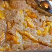 This is the best Peach Cobbler