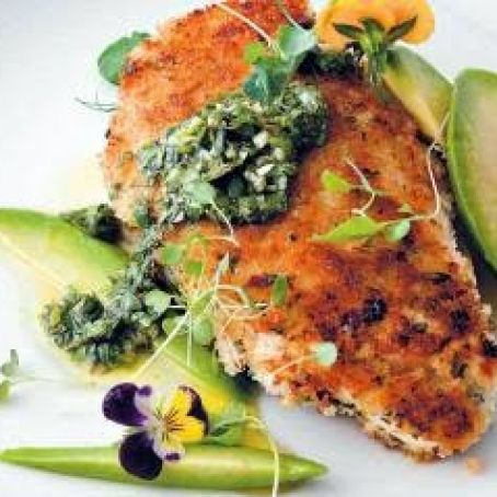 Crisped Chicken With Chimichurri & Avocado
