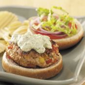 Turkey Burgers with Avocado Sauce