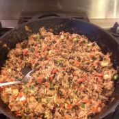 Chicken Black Bean Filling for Burritos