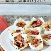 No Fuss Bacon Tomato and Cheese Cups