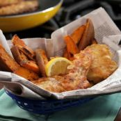 Beer Battered Fish and Sweet Potato Fries