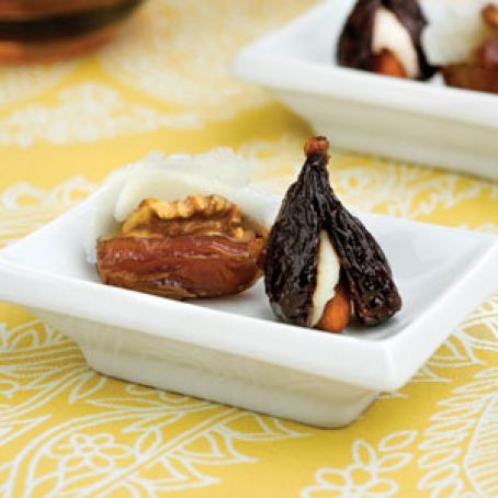 Decked-Out Dates & Pecan-stuffed Bacon Dates