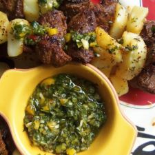 Steak & Potato Alambritos With Chimichurri