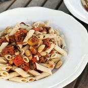 Roasted Tomato and Cannellini Bean Pasta