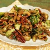 Caramelized Brussel Sprouts with Apples and Pecans