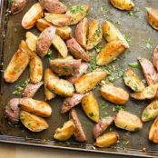 Roasted New Potatoes with Garlic