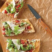 Pear, Blue Cheese & Bacon Focaccia-Style Pizza